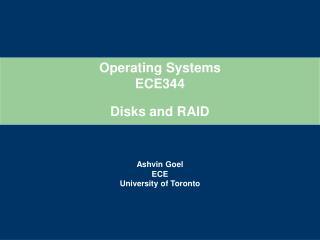 Disks  and RAID