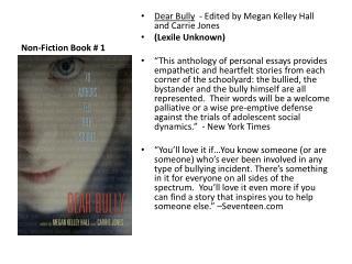 Non-Fiction Book # 1