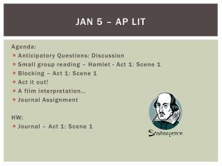 Jan 5 – AP Lit