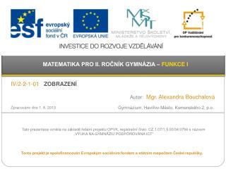 Gymnázium,  Havířov -Město, Komenského 2,  p.o .