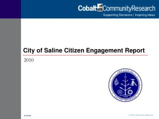 City of Saline Citizen Engagement Report