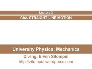 University Physics: Mechanics