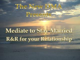 Mediate to Stay Married