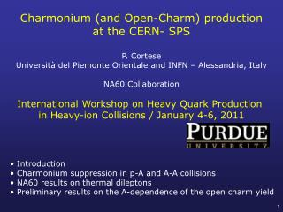 C harmonium  (and Open-Charm) production at  the CERN- SPS