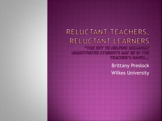 Brittany Preslock Wilkes University