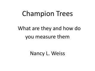 Champion Trees