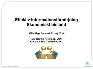 Effektiv informationsförsörjning