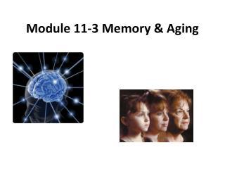 Module 11-3 Memory & Aging