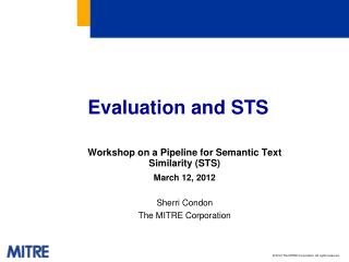 Evaluation and STS