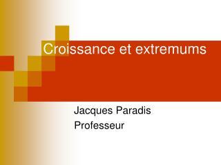 Croissance et extremums