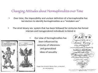 Changing Attitudes about Hermaphrodites over Time