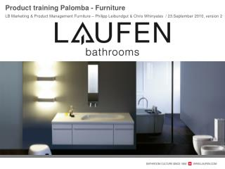 Product training  Palomba  - Furniture