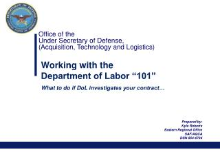 Office of the  Under Secretary of Defense,  (Acquisition, Technology and Logistics)