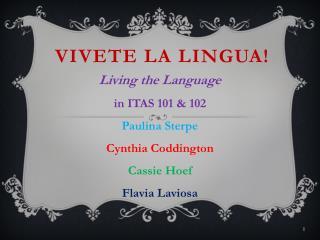 Vivete la Lingua!