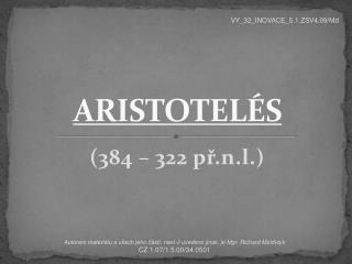 ARISTOTELÉS