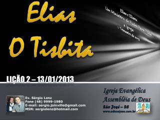 Elias O  Tisbita