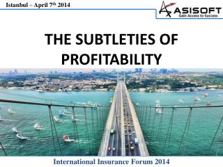 THE SUBTLETIES OF PROFITABILITY