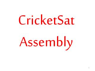 CricketSat Assembly