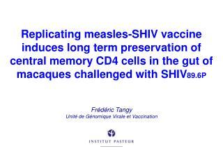 Frédéric  Tangy Unité de Génomique Virale et Vaccination