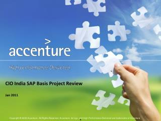 CIO India SAP Basis Project Review Jan 2011