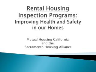 Mutual Housing California and the  Sacramento Housing Alliance