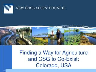 NSW IRRIGATORS' COUNCIL
