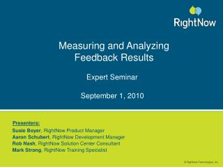 Measuring and Analyzing Feedback Results