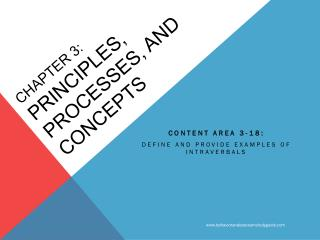 CHAPTER 3: PRINCIPLES, PROCESSES, AND CONCEPTS