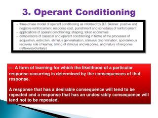 3. Operant Conditioning