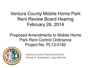 Ventura County Planning Division Franca A. Rosengren, Case Planner