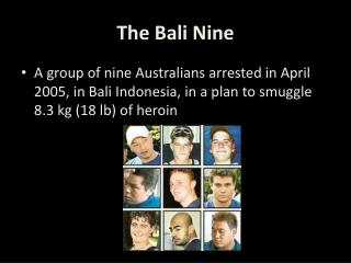 The Bali Nine