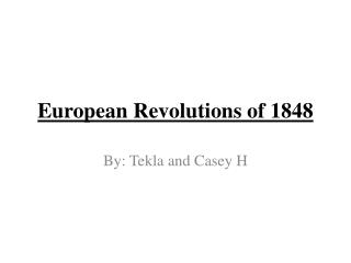 European Revolutions of 1848