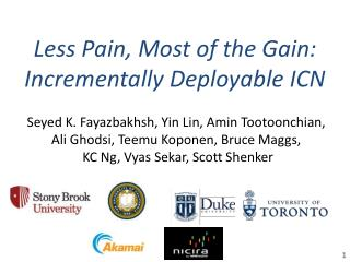 Less Pain, Most of the Gain: Incrementally Deployable ICN