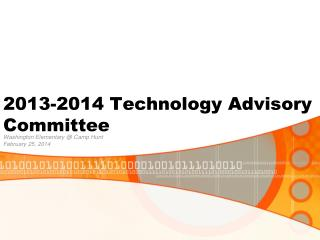 2013-2014 Technology Advisory Committee