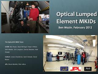 Optical Lumped Element  MKIDs