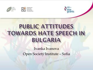Public attitudes towards hate speech in Bulgaria