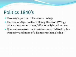 Politics 1840's