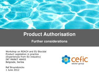 Product Authorisation