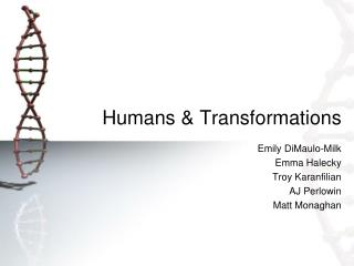 Humans & Transformations