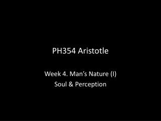 PH354 Aristotle