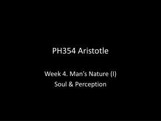 PH354 Aristotle