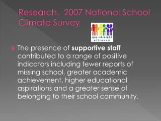 Research.  2007 National School Climate Survey