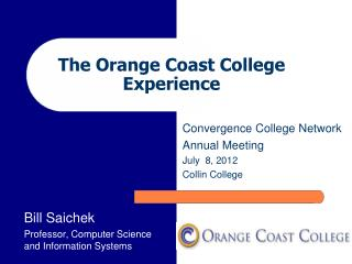 The Orange Coast College Experience