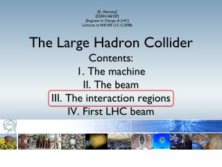 [R. Alemany] [CERN AB/OP] [Engineer In Charge of LHC] Lectures at NIKHEF (12.12.2008)