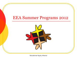 EEA Summer Programs 2012