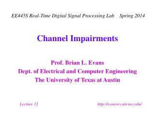 Channel Impairments