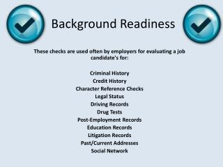 Background Readiness