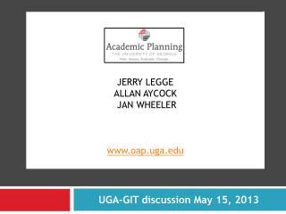 Jerry  legge allan Aycock  Jan Wheeler \ www.oap.uga.edu