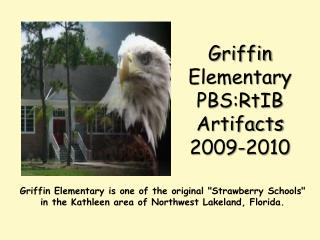 Griffin Elementary  PBS:RtIB  Artifacts 2009-2010