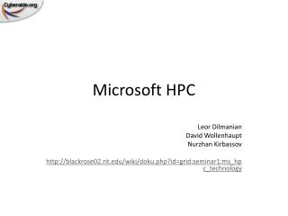 Microsoft HPC